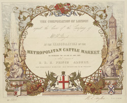 [Invitation to the Inauguration of the Metropolitan Cattle Market]